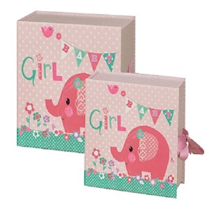 """Pink Elephant"" Keepsake Box (2)"