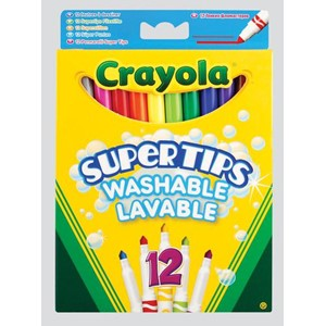 """Crayola"" Washable Supertips Markers 12 asso"
