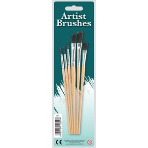 "Pensler ""Artist Brushes"" 6 stk. assorterte 3"