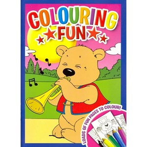 "Malebok ""Colouring Fun"" med trompet"