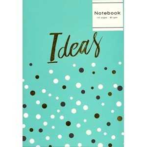 """Spots Collection"" Notatbok A5, turkis."