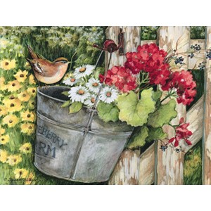 """Birdhouse & Fence"" Assorted Boxed Note Card"