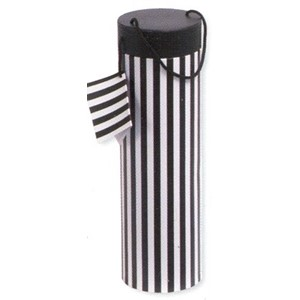 """Candy Stripe Black/White"", Flaske-eske rund"