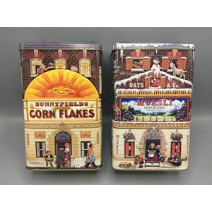 """Cornflakes and Muesli House"" Metallboks, 2 assortert"