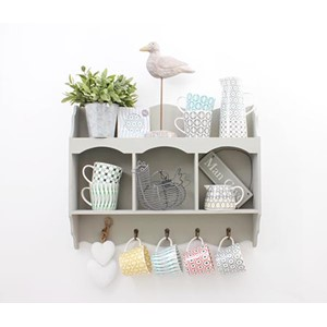 Triple Storage Alcove and Hooks White