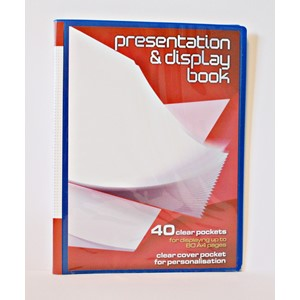 Display Book, 40 lommer, 3 ass farger