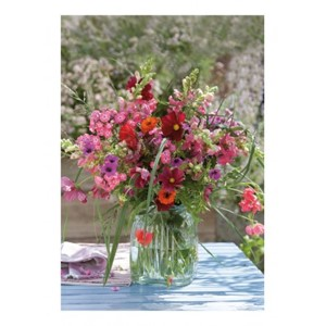 """Cottage garden flower arrangement"""