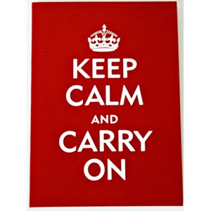 """Keep Calm and Carry On"" Note Cards (14/15)"