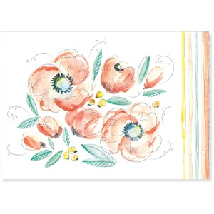 """Peach and Mint"" Note Cards (14/15)"