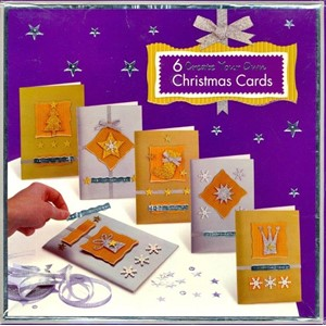 """6 Create Your Own Christmas Cards"" Gold and Silver"