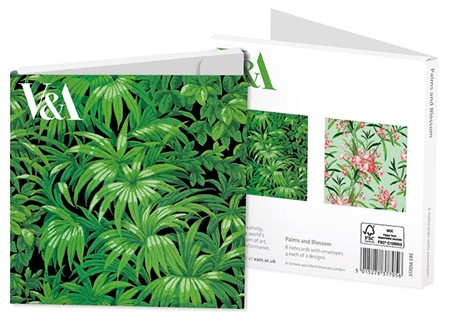 """Palm and Blossom"" Notecards 8/8"