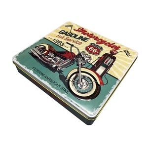 """Motorcycles Gasoline"" Retro metallboks"