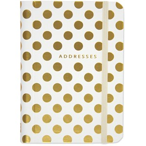 """Gold Dots"" Adress Book"