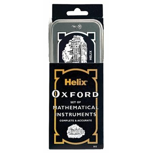 """Helix Oxford Set of Mathematical Instruments in Tin Box"""