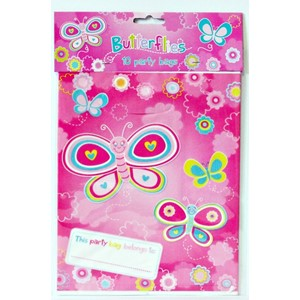"""Butterflies"", Party-Bags, 10 stk"