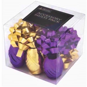 """Accessory Multi Pack, Purple & Gold"" Bånd og rosetter"