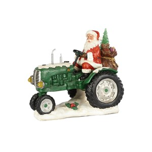"""Santa in Tractor"" Colour changing LED, 30x18,5x25 cm"