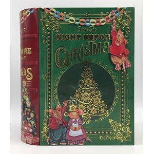 """The Night Before Christmas"" Large metalleske i bok-format"