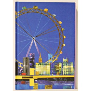 """Spirit London"", A5 Cased Notebook with Magn"