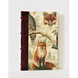 """Fox & Owl"" Half-Leather Bound Journals, A5,"