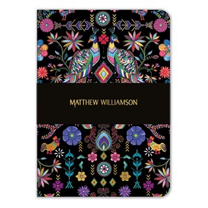 """Pampas Peacock"" A5 Luxury Notebook"