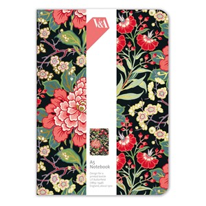 """Peony and Prunus"" A5 Luxury Notebook"