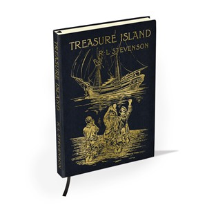 """Treasure Island by R. L. Stevenson"" British"