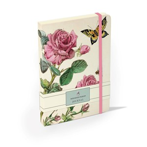 """Rose and Butterfly"" Elasticated Journal"