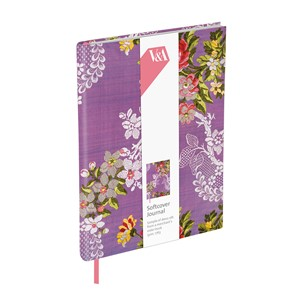 """Purple Dress Silk"" Softcover Journal"