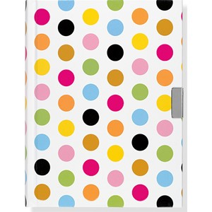 """Fiesta Dots"" Locking Journal"