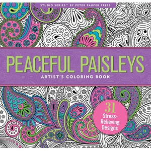 """Peaceful Paisleys"" Artis's Coloring Books"