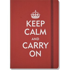 """Keep Calm and Carry On"" Small Journal ,Red"