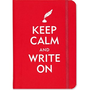"""Keep Calm and Write On"" Small Journal"