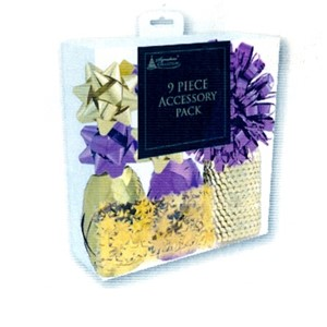 """9 Piece Accessory Pack, Purple & Gold"" Bånd og rosetter"