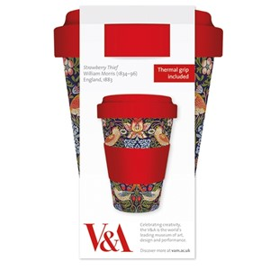 """Strawberry Thief"" Bamboo Travel Mug"