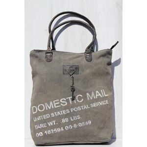 "Shopper ""Domestic Mail  Zipped Black/Wash"""