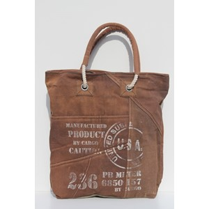 """US Cargo"", Brown Khaki Shopper Bag"