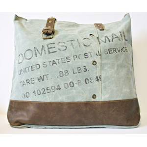 """Domestic Mail"" ,Turquoise, Shoulder Bag"