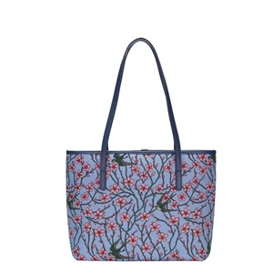"College Tote Bag Premium ""Almond Blossom and Swallow"""