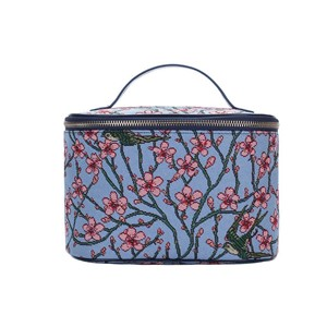 "Toiletry Case Premium ""Almond Blossom and Swallow"""