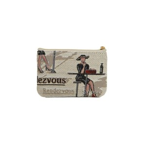 "Zip Coin Purse ""Rendezvous"""
